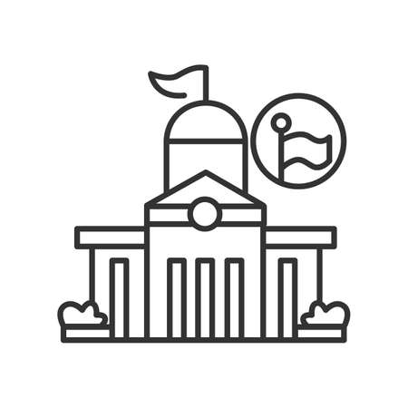Public office icon. Local authorities office building vector illustration.