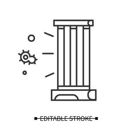 UV lamp icon. Antibacterial light UVC sterilizer vector illustration Vetores