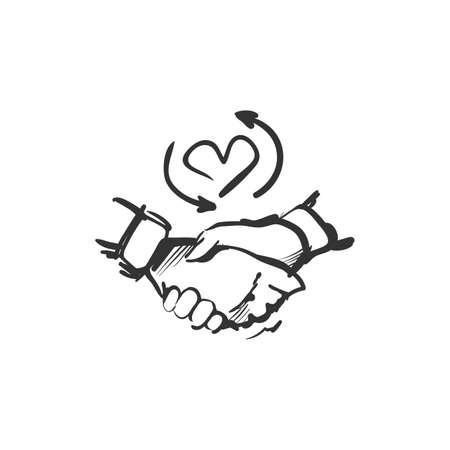 Loyalty line icon.Loyalty program. Isolated vector illustration