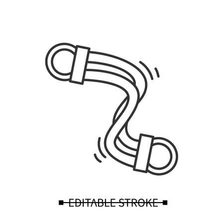 Exercise bands icon. Elastic resistance band for fitness training simple vector illustration