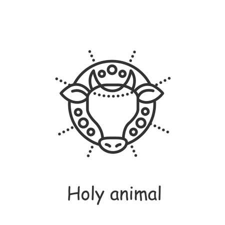 Holy cow line icon. Editable vector illustration 矢量图像
