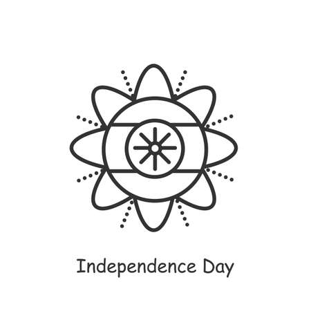 Independence day line icon. Editable illustration
