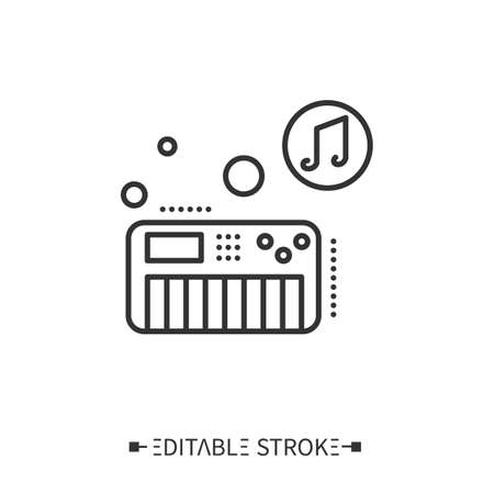 Synthesizer line icon.Editable vector illustration