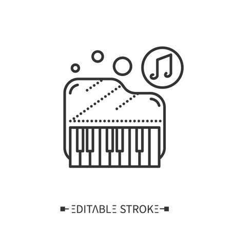 Piano line icon. Editable vector illustration