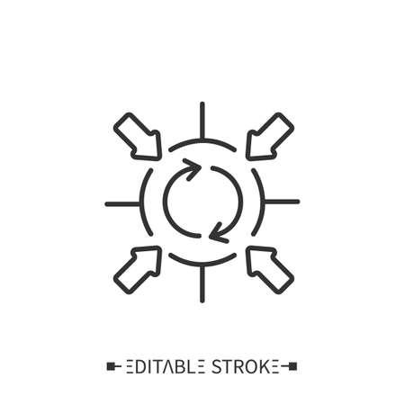 Corporate synergy bias icon Vektorgrafik