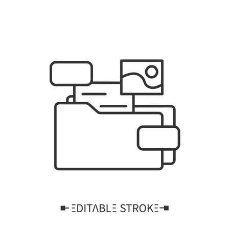 Portfolio icon. Compilation of materials