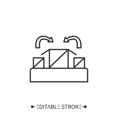Packing line icon. Editable vector illustration