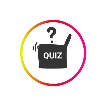 Quiz icon. Questions and answers game sign