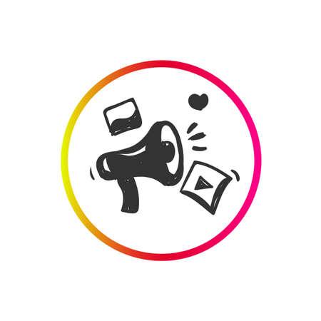 Campaign icon. Loudspeaker pictogram