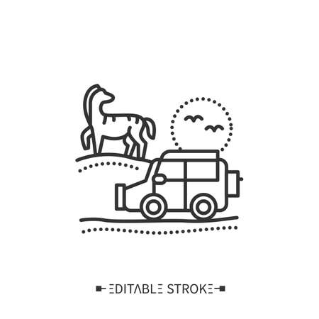 Safari line icon. Editable vector illustration