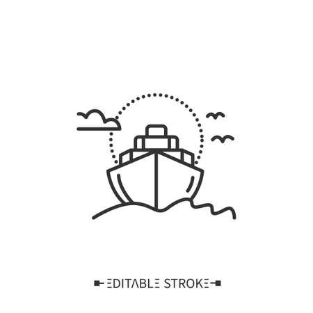 Cruise line icon. Editable vector illustration
