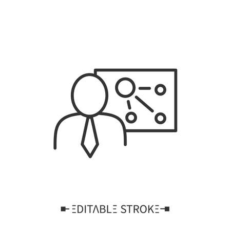 Training workshop line icon. Editable illustration Vektoros illusztráció