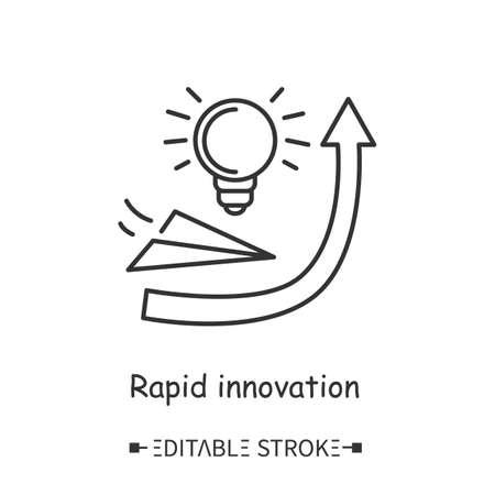 Rapid innovation line icon. Editable illustration