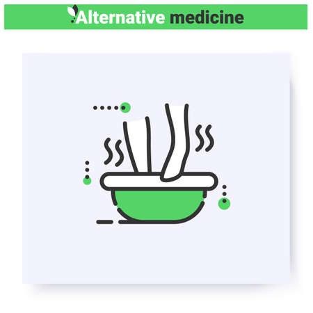 Balneotherapy line icon. Editable illustration Vektorgrafik