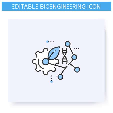 Biomaterial line icon. Editable illustration