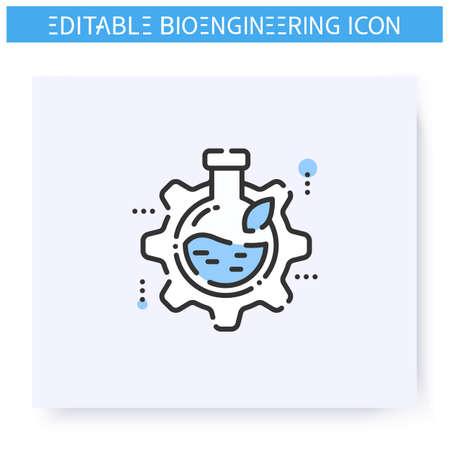 Bioengineering line icon. Editable illustration