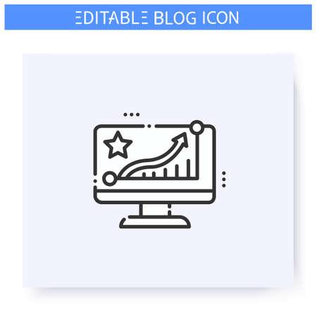 Rating line icon. Editable illustration
