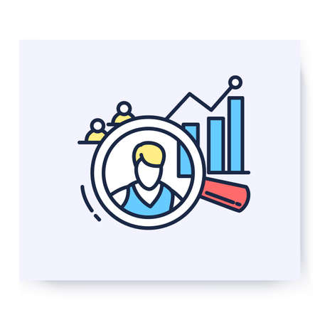 Analysis color icon. Vector illustration