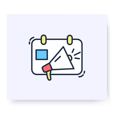 Event marketing color icon. Vector illustration