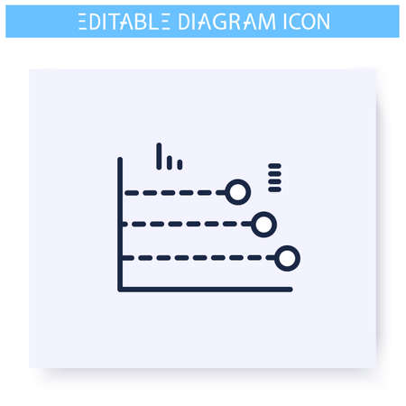 Phase diagram line icon. Editable illustration