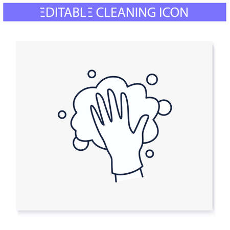 Foaming line icon. Editable illustration
