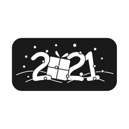 New year 2021 glyph icon
