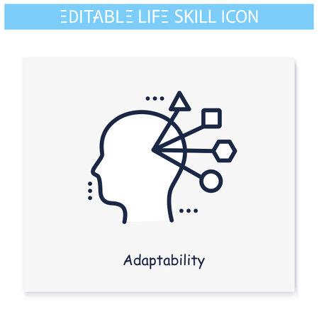 Adaptability line icon. Editable illustration 向量圖像
