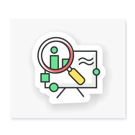 Research patch. Vector emblem