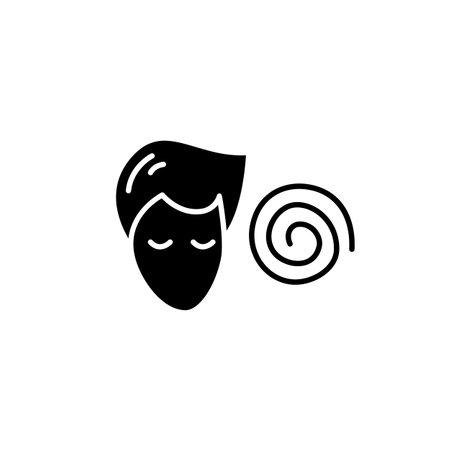 Hypnosis glyph icon