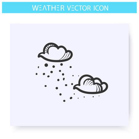 Drizzle icon. Shallow rain Vecteurs