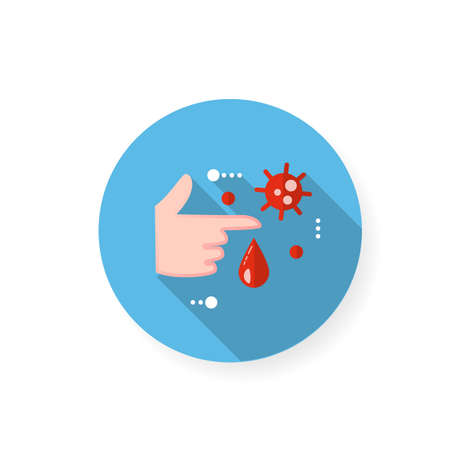 Infection through blood flat icon Ilustração