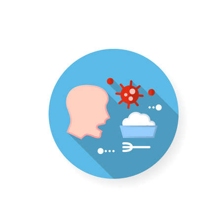 Food infection flat icon