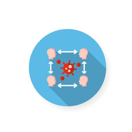 Infection cycle flat icon Ilustração