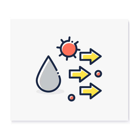 Droplet spread color icon