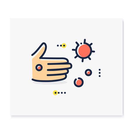 Contact spread color icon