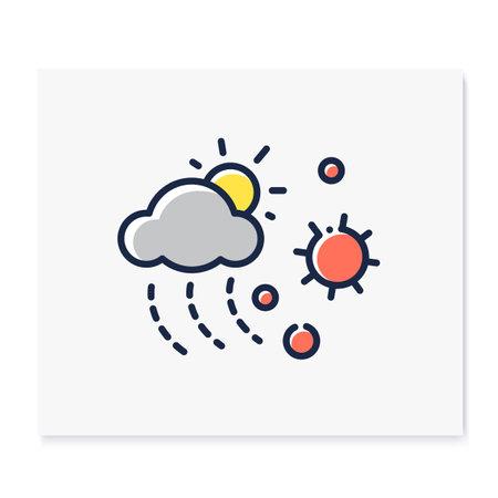 Contamination spread color icon