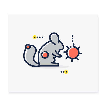 Carrier animal color icon 일러스트