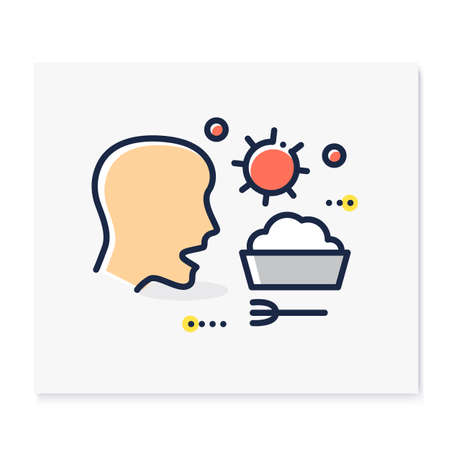 Food infection color icon Ilustração