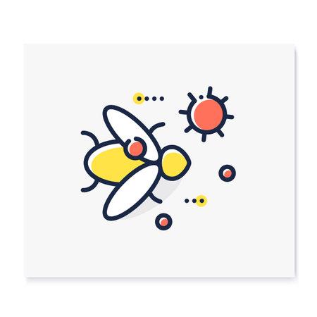 Carrier animal color icon Ilustração