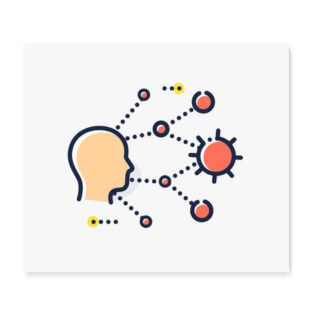 Super spreading color icon Ilustração