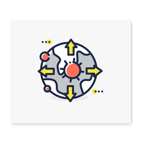 Pandemic map color icon