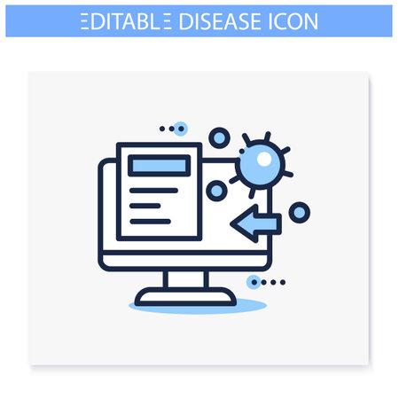 Spread of disease education icon. Editable Ilustração