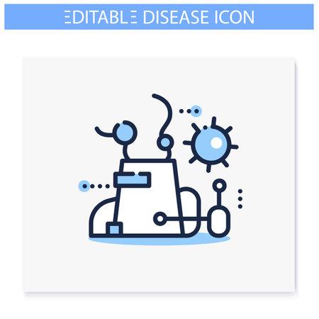 Contamination spread line icon. Editable Ilustração