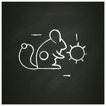 Carrier animal chalk icon Ilustração