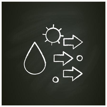 Droplet spread chalk icon Ilustração