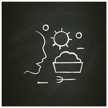 Food infection chalk icon Ilustração