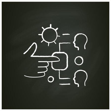 Contact spread chalk icon