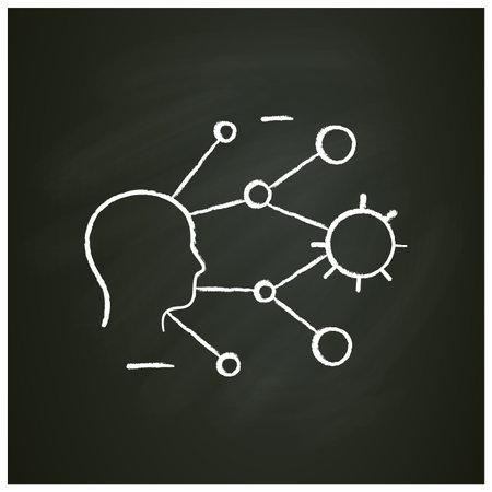 Super spreading chalk icon Ilustração
