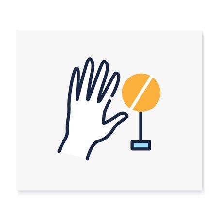 Hand wash color icon