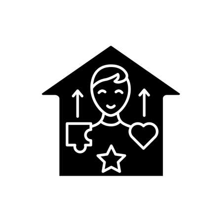 Real-life skills glyph icon
